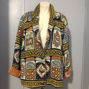VTG 70's PAINTED PONY Spice Heavy Cardigan/Jacket
